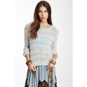 Free People Provence Stripe Pullover sweater